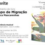 Lançamento do livro: Tempo de Migração de Teca Mascarenhas