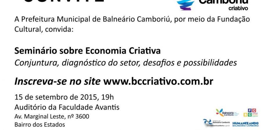 ECONOMIA CRIATIVA/Seminário trata da nova matriz econômica para Balneário Camboriú