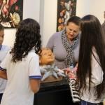 Estudantes visitam a Galeria Municipal de Arte