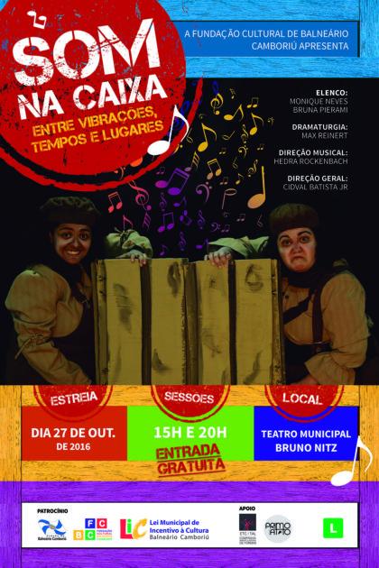 """Espetáculo """"Som na Caixa"""" estreia na quinta (27) no Teatro Bruno Nitz"""