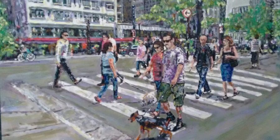 Artista plástico paranaense expõe na Galeria Municipal