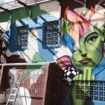 Paredes da Praça da Cultura ganham desenhos e cores