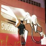 Pinturas nas paredes da Praça da Cultura homenageiam artistas