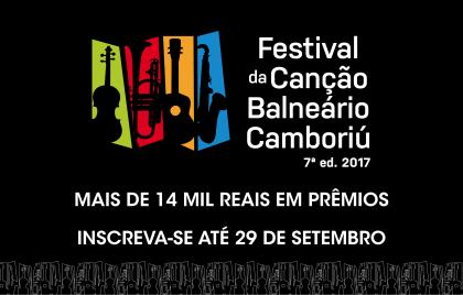 Prazo de inscrição para o Festival da Canção de Balneário Camboriú termina sexta-feira