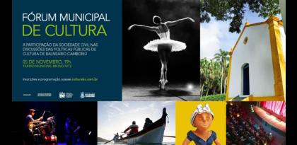 Fórum Municipal de Cultura ocorre neste domingo