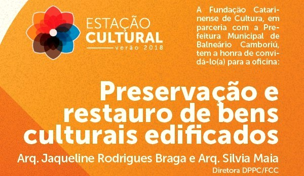Oficina sobre preservação de bens culturais edificados ocorre nesta quinta-feira