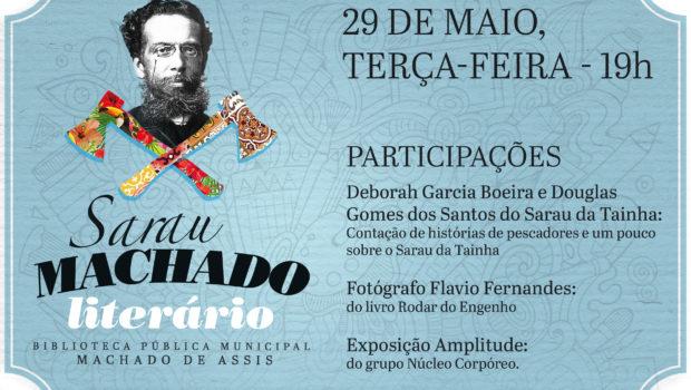 Sarau Machado Literário será na próxima terça-feira (29)