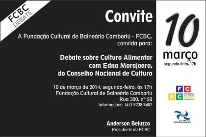 FCBC promove debate sobre Cultura Alimentar