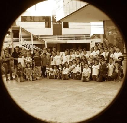 Alunos da rede municipal no Teatro Bruno Nitz