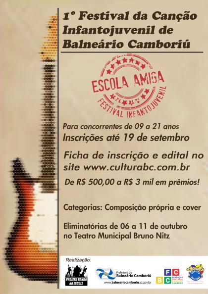 Inscrições para o Festival da Canção Infantojuvenil terminam dia 25