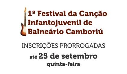 Inscrições para o Festival da Canção Infantojuvenil prorrogadas até dia 25