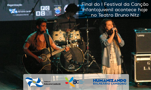 Final do I Festival da Canção Infantojuvenil acontece hoje no Teatro Bruno Nitz