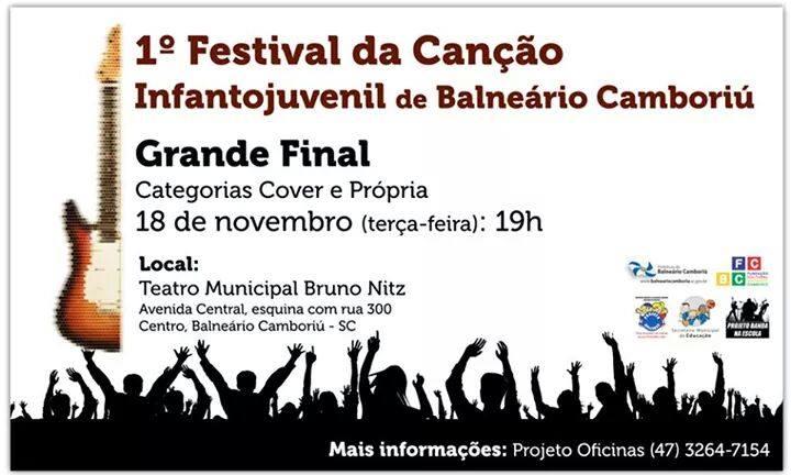 Final do Festival da Canção Infantojunvenil