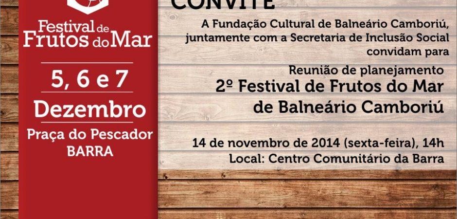 Reunião de planejamento 2º Festival de Frutos do Mar de Balneário Camboriú