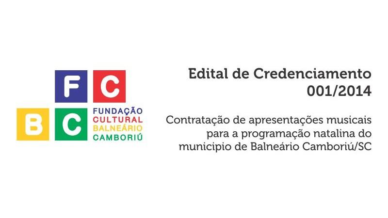 Relação de projetos classificados para o Edital de Credenciamento 001/2014 – Contratação de apresentações musicais para a programação natalina do municipio de Balneário Camboriú/SC