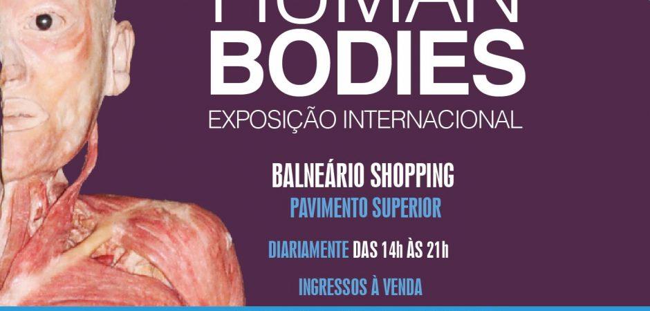 """Human Bodies – Maravilhas do Corpo Humano"" chega ao Balneário Shopping"