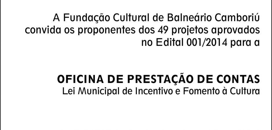 LIC – Convite para os proponentes dos projetos aprovados em 2014