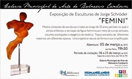 Individual de esculturas marca o Dia Internacional da Mulher