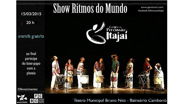 Ritmos do Mundo no Teatro Bruno Nitz