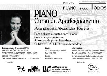 LIC patrocina curso de aperfeiçoamento em piano