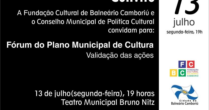 Fórum Plano Municipal de Cultura