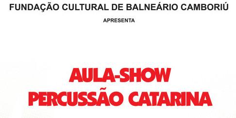 Aulas-shows Percussão Catarina apresentam a história do folclore catarinense por meio dos instrumentos de percussão, canções e poesias