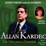 """""""Allan Kardec – Um olhar para Eternidade"""" no palco do Teatro Municipal Bruno Nitz"""