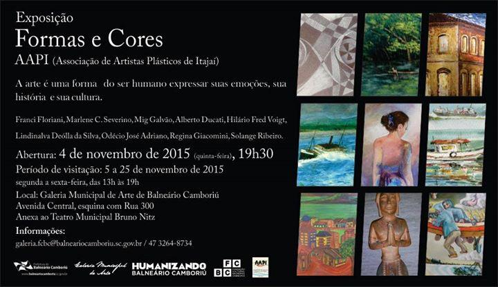 """Exposição """" Formas e Cores""""  na Galeria Municipal de Arte"""