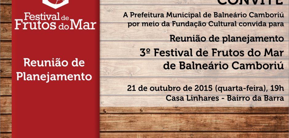 Reunião de planejamento – 3º Festival de Frutos do Mar de Balneário Camboriú