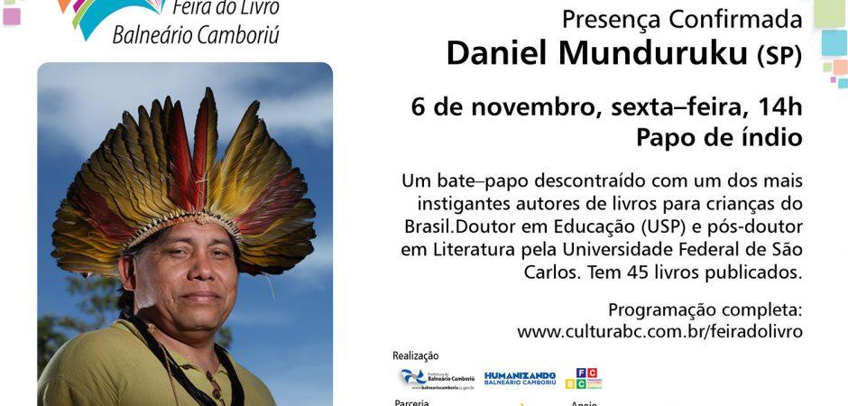 Daniel Munduruku – Presença confirmada na Feira do Livro