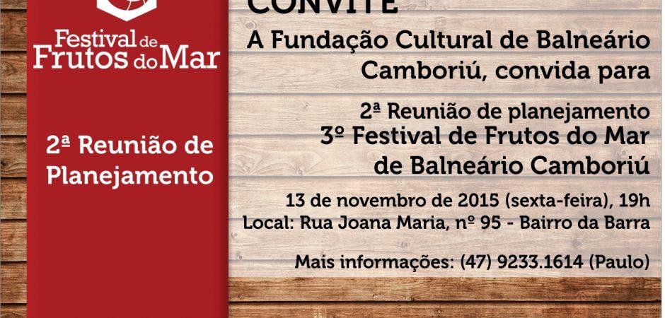 2ª Reunião de planejamento – 3º Festival de Frutos do Mar de Balneário Camboriú