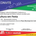 Grande evento marca o lançamento do Plano Municipal de Cultura