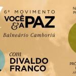 Divaldo Franco em Balneário Camboriú neste domingo