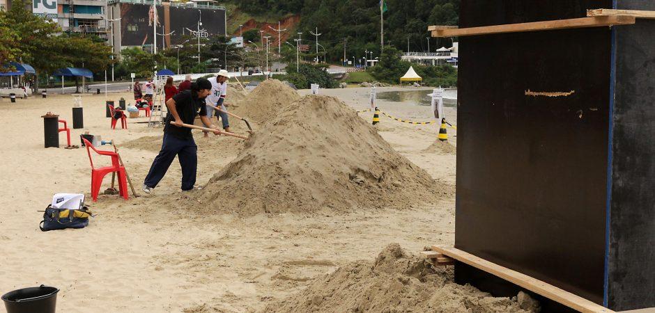 Pontal Norte da Praia Central recebe Festival de Esculturas de Areia