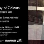 Fabi Loos cria sinfonia com pincéis e cores