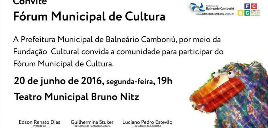 Fórum Municipal de Cultura ocorre em 20 de junho