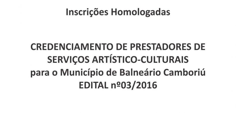 Resultado do Edital de Credenciamento 03/2016
