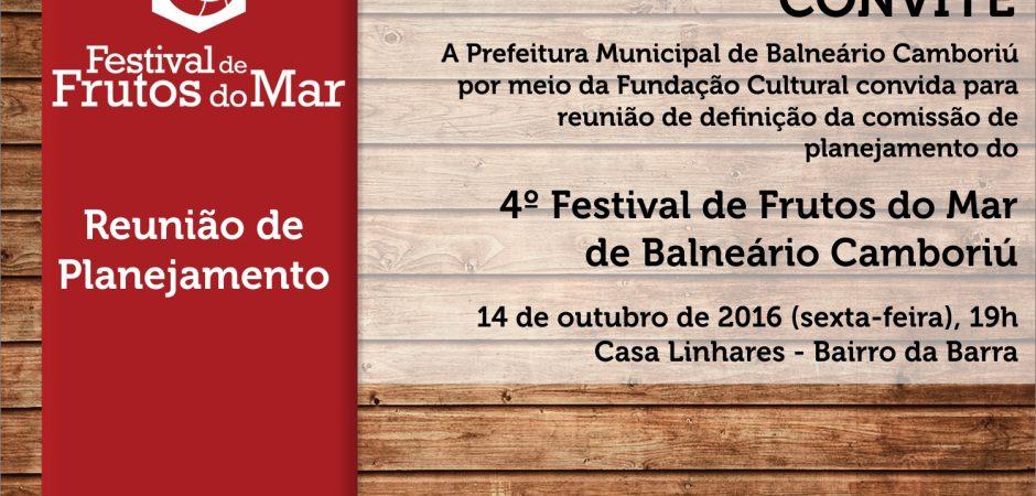 4º Festival de Frutos do Mar de Balneário Camboriú – Reunião de Planejamento