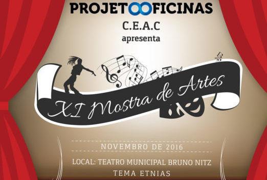 Projeto Oficinas realiza XI Mostra de Artes no Teatro Bruno Nitz