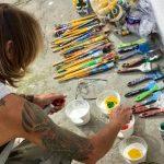Pinturas na Praça da Cultura serão concluídas no próximo sábado