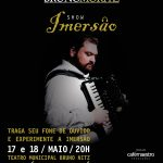 "Acordeonista Bruno Moritz apresenta show ""Imersão"" no Teatro Municipal Bruno"