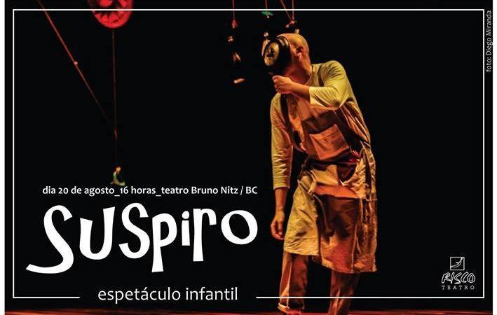 Dois espetáculos serão apresentados no Teatro Bruno Nitz neste domingo
