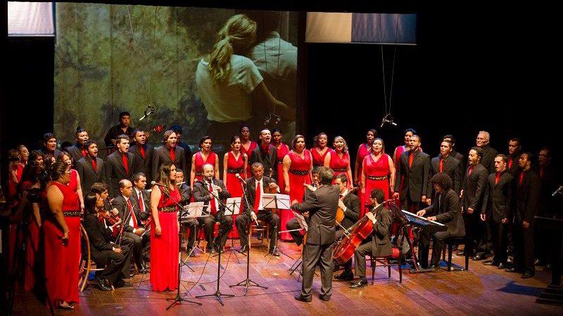 Neste sábado tem Festival Internacional de Corais no Teatro Bruno Nitz