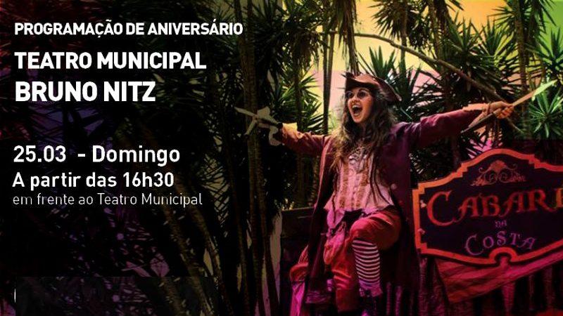 Apresentações artísticas marcarão os quatro anos de Teatro Bruno Nitz
