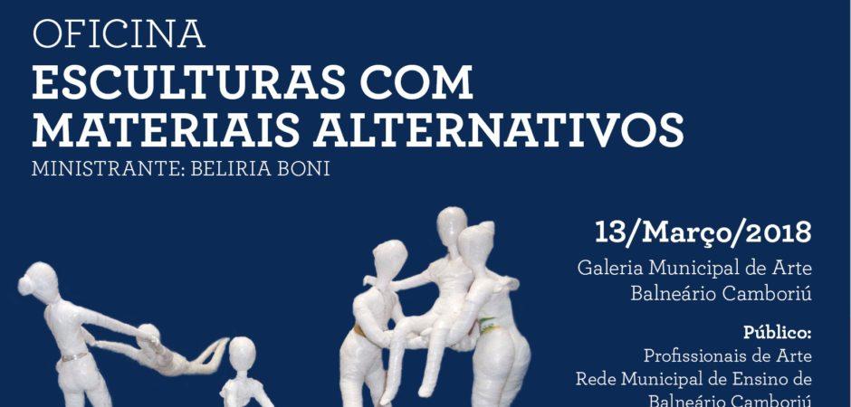 Professores participarão de oficina sobre esculturas com materiais alternativos