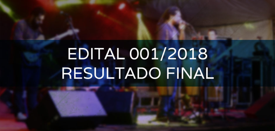 Resultado final do Edital de Credenciamento 001/2018 – RETIFICADO