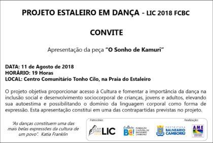 CONVITE: Projeto LIC Estaleiro em Dança