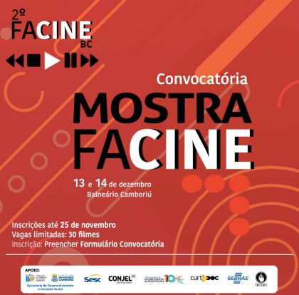 Inscrições para a Mostra Facine estão abertas até 25 de novembro