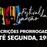 Inscrições para o Festival da Canção foram prorrogadas até segunda-feira