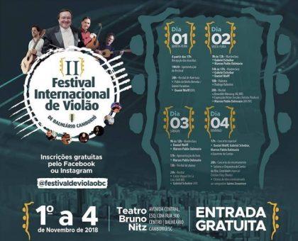 Balneário Camboriú sedia Festival Internacional de Violão